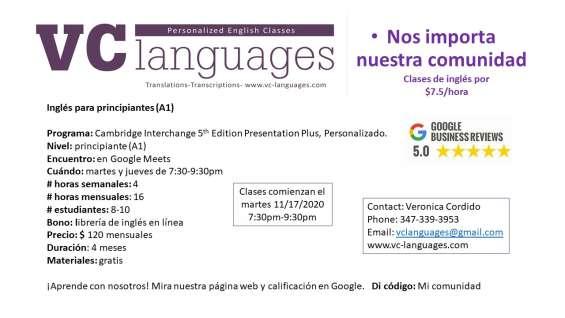 Fotos de Clases comunitarias de inglés como segunda lengua a tan solo $7.5 la hora. 2