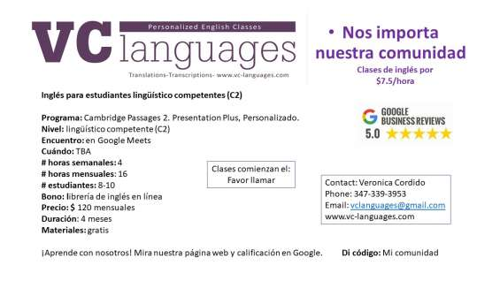 Fotos de Clases comunitarias de inglés como segunda lengua a tan solo $7.5 la hora. 7