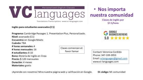 Fotos de Clases comunitarias de inglés como segunda lengua a tan solo $7.5 la hora. 6
